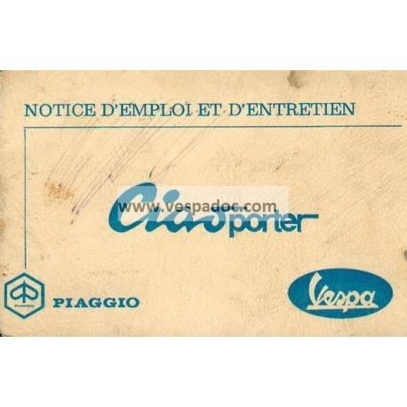 Notice d'emploi Piaggio Ciao Porter mod. CT1T