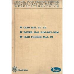 Manuale per Stazioni di Servizio Piaggio Ciao Porter, mod. CT1T
