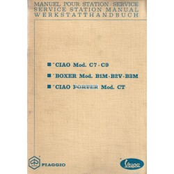 Workshop Manual Piaggio Ciao Porter, mod. CT1T