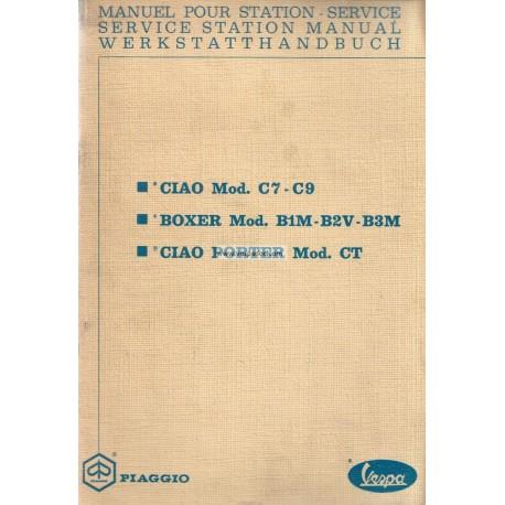 Workshop Manual Piaggio Ciao Porter, mod. CT1T