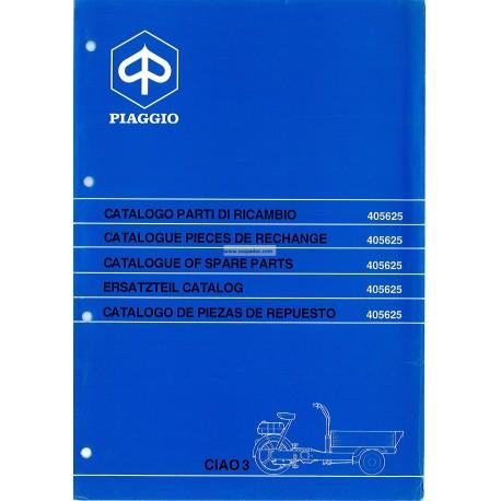 Catalogue of Spare Parts Piaggio Ciao Porter 3 CT31T
