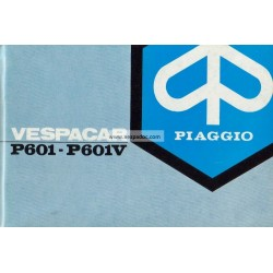 Operation and Maintenance Piaggio Ape P601 mod. MPM2T et MPM1T, P601V mod. MPV2T et MPV1T