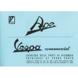 Catalogo de piezas de repuesto Piaggio Ape C, Ape D, Ape E, Ape EO 1956