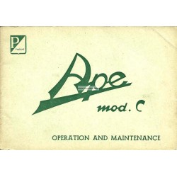 Operation and Maintenance Piaggio Ape C 150