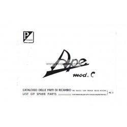 Catalogo de piezas de repuesto Piaggio Ape C AC3