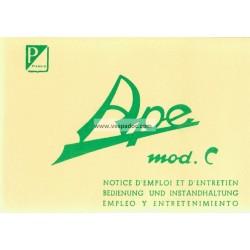 Bedienungsanleitung Piaggio Ape C 150 mod. AC1T, AC2T, AC3T, AC4T