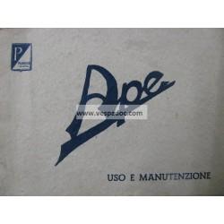 Libretto de Uso e Manutenzione Ape A 125 cc