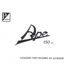Ersatzteil Katalog Piaggio Ape B 150 de 1953, AB1T, Italienisch