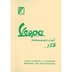 Manuale de Uso e Manutenzione Piaggio Ape D 175 mod. AD1T, AD2T