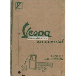 Manuale de Uso e Manutenzione Piaggio Ape E0 125 mod. AE02T, Ape D 175 mod. AD2T, Ape E 150 mod. AE2T, Spagnolo
