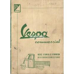 Manuale de Uso e Manutenzione Ape E0 125 mod. AE02T, Ape D 175 mod. AD2T, Ape E 150 mod. AE2T