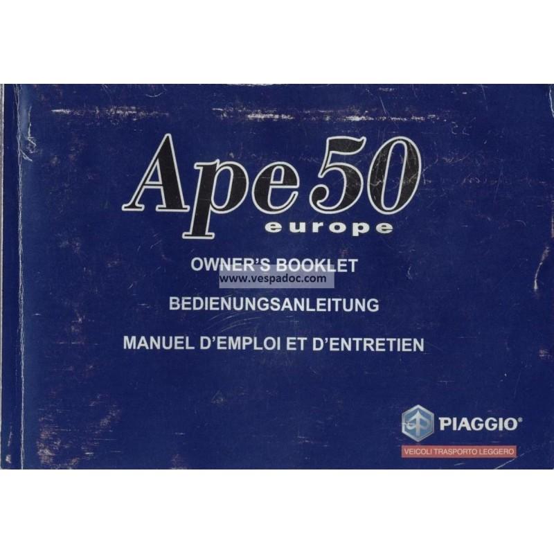 ape 50 bedienungsanleitung