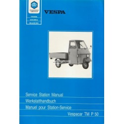Workshop Manual Piaggio Ape TM P50, Workshop Manual Ape 50