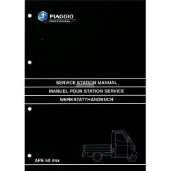 Werkstatthandbuch Piaggio Ape 50 MIX, mod. ZAPC 80000