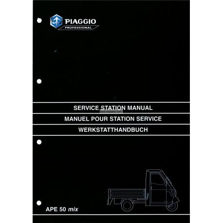 Manuale per Stazioni di Servizio Piaggio Ape 50 MIX, mod. ZAPC 80000