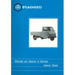 Manuel Technique Piaggio Apecar Diesel mod. AFD1T, Italien