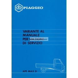 Workshop Manual Piaggio Ape Max Diesel, mod. AFD3T, Italian