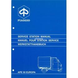 Werkstatthandbuch Piaggio Ape 50 Europa, mod. TL5T