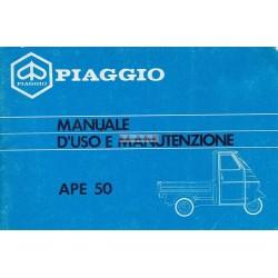 Bedienungsanleitung Piaggio Ape 50 mod. TL6T, Italienisch