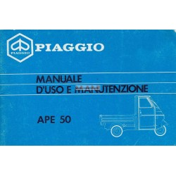 Notice d'emploi Piaggio Ape 50 mod. TL6T, Italien