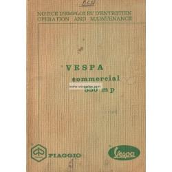 Notice Piaggio Ape 550 MP mod. MPA1T
