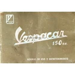 Notice Piaggio Ape Vespacar 150 cc Espagne, Espagnol