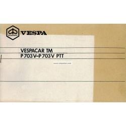 Notice d'emploi Piaggio Ape TM P703 125cc PTT