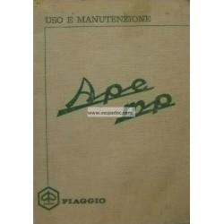 Manuale de Uso e Manutenzione Piaggio Ape 500 MP mod. MPR1T, Ape 550 MP mod. MPA1T, Italiano