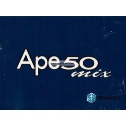 Manuale de Uso e Manutenzione Piaggio Ape 50 MIX mod. Zapc 80000...