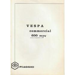 Manuale de Uso e Manutenzione Piaggio Ape 600 mod. MPV1T