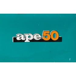 Manuale de Uso e Manutenzione Piaggio Ape 50 mod. TL6T