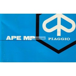 Bedienungsanleitung Piaggio Ape MP, Ape 600 mod. MPM1T, Ape 600 mod. MPV1T, Ape 500 mod. MPR1T, Italienisch
