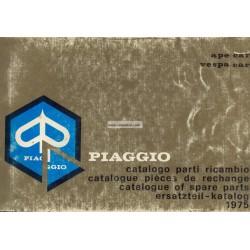 Catalogo delle parti di ricambio Piaggio Ape Apecar 220 AF1T 1975