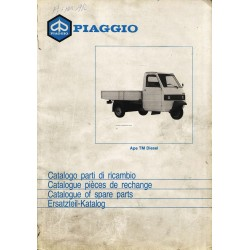 Catalogue de pieces Piaggio Ape TM Diesel, ATD1T