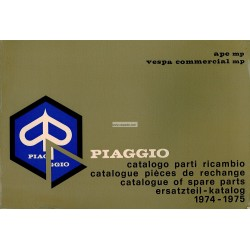 Catalogue of Spare Parts Piaggio Ape MP, Ape P500 MPR, Ape P600 MPM, Ape 600 MPV, Ape P400V MPF