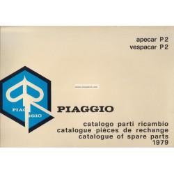 Catalogo delle parti di ricambio Piaggio Ape, Apecar, Vespacar P2