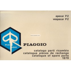 Catalogue de pieces Piaggio Ape, Apecar, Vespacar P2
