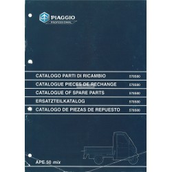 Catalogue of Spare Parts Piaggio Ape 50 MIX Mod. ZAPC 1998