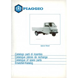 Catalogue de pieces Piaggio Ape, Apecar Diesel, AFD1T