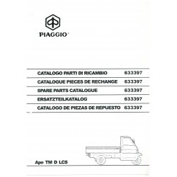 Catalogue de pieces Piaggio Ape TM D LCS Mod. ZAPT