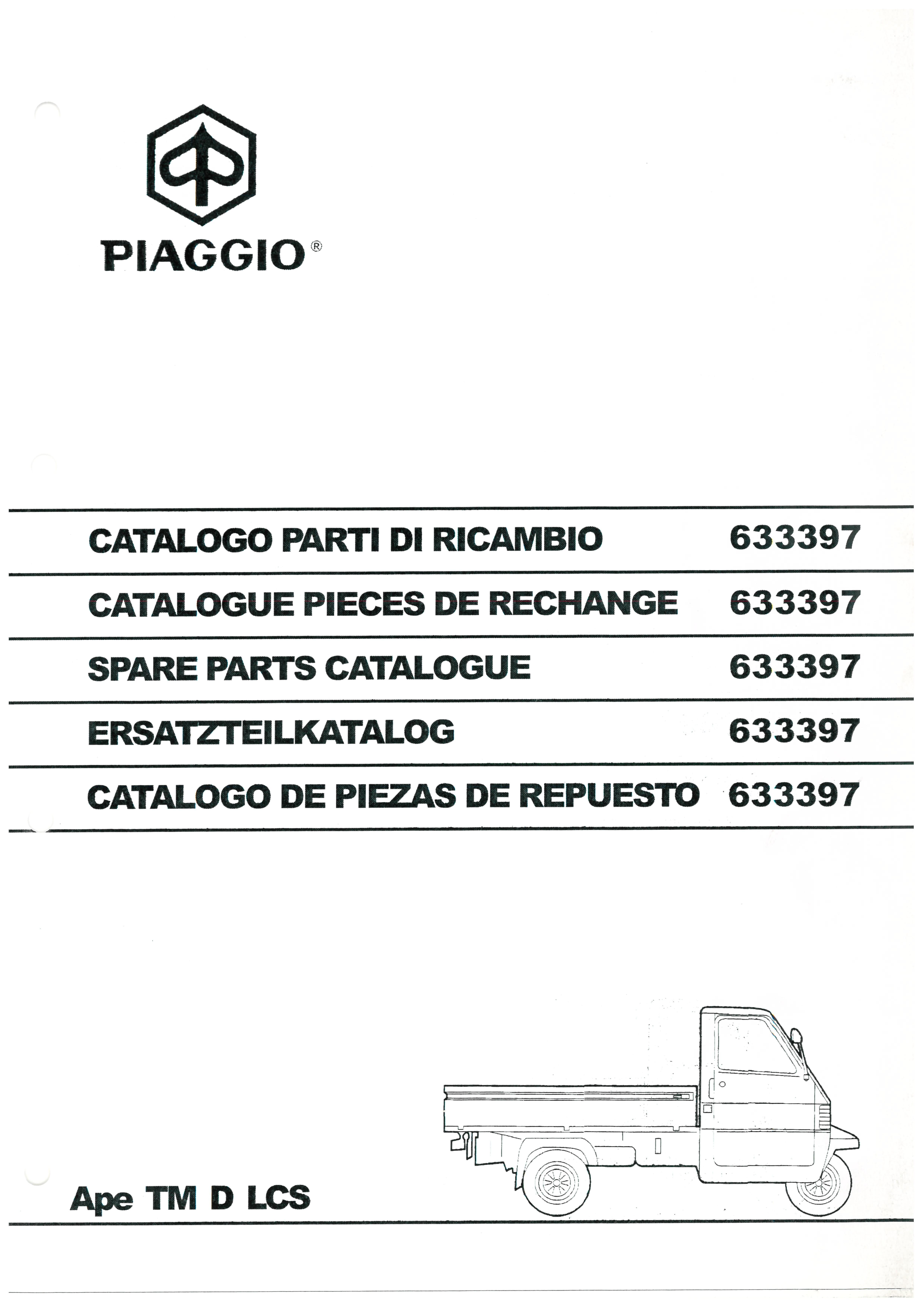 Catalogue Of Spare Parts Piaggio Ape Tm D Lcs Mod Zapt Vespadoc 50 Elestart Model V5a3t Wiring Diagram All About Diagrams