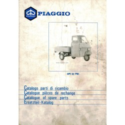 Catalogue of Spare Parts Piaggio Ape TM P50 Mod. TL4T, 1980