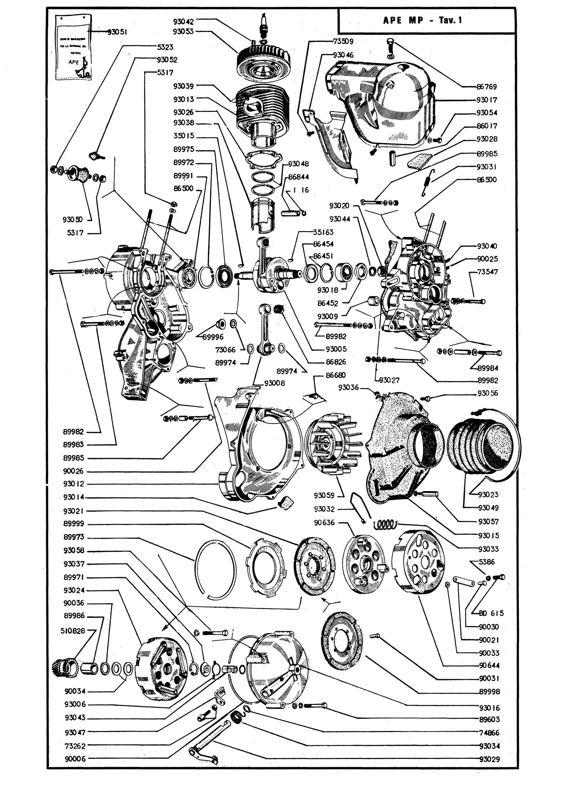 catalogue of spare parts piaggio ape mp vespadoc rh vespadoc com piaggio ape spare parts list piaggio ape spare parts list