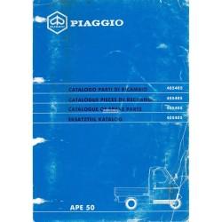 Catalogo delle parti di recambio Piaggio Ape 50 Mod. TL6T