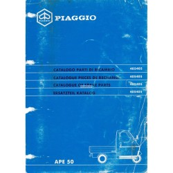Catalogue de pieces Piaggio Ape 50 Mod. TL6T