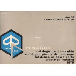 Catalogo de piezas de repuesto Piaggio Ape 50 Mod. TL2T, 1976