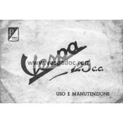 Manuale de Uso e Manutenzione Vespa 1951 V30