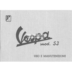 Manuale de Uso e Manutenzione Vespa 1953, VM1T