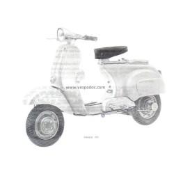 Normas de Uso e Entretenimiento Vespa 50 con pedales mod. V5A1T