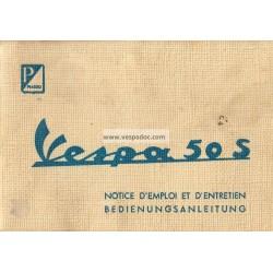 Manuale de Uso e Manutenzione Vespa 50 S mod. V5SA1T